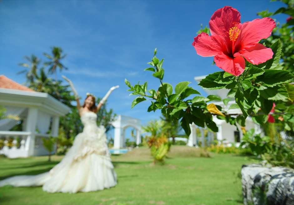 カサブランカ・バイ・ザ・シー花々が咲き乱れるガーデンにて