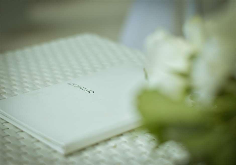 モーベンピック・ホテル・マクタン<br /> ビーチフロント・ガーデンウェディング<br /> 結婚証明書