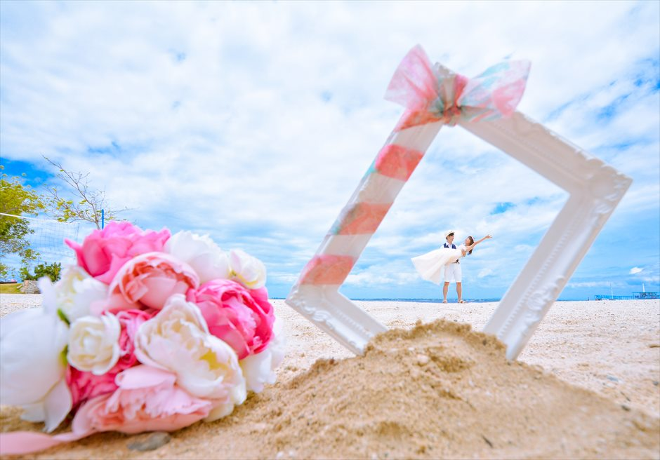 ジェイ・パーク・アイランド・リゾート白砂のビーチにてフォトウェディング