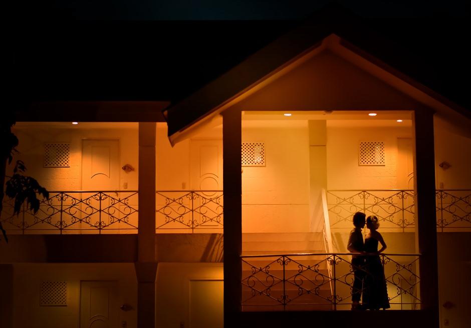 パシフィック・セブ・リゾートホテル棟にてサンセット・フォトウェディング