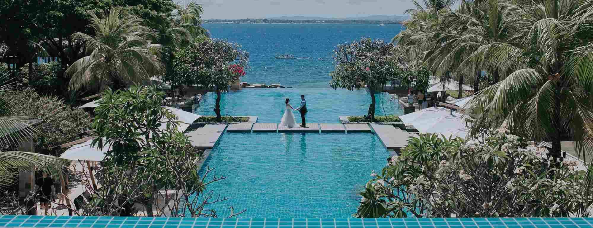 セブ島インフィニティ・プールウェディング・フォトCrimson Resort&Spa Mactan Wedding~クリムゾン・リゾート&スパ挙式
