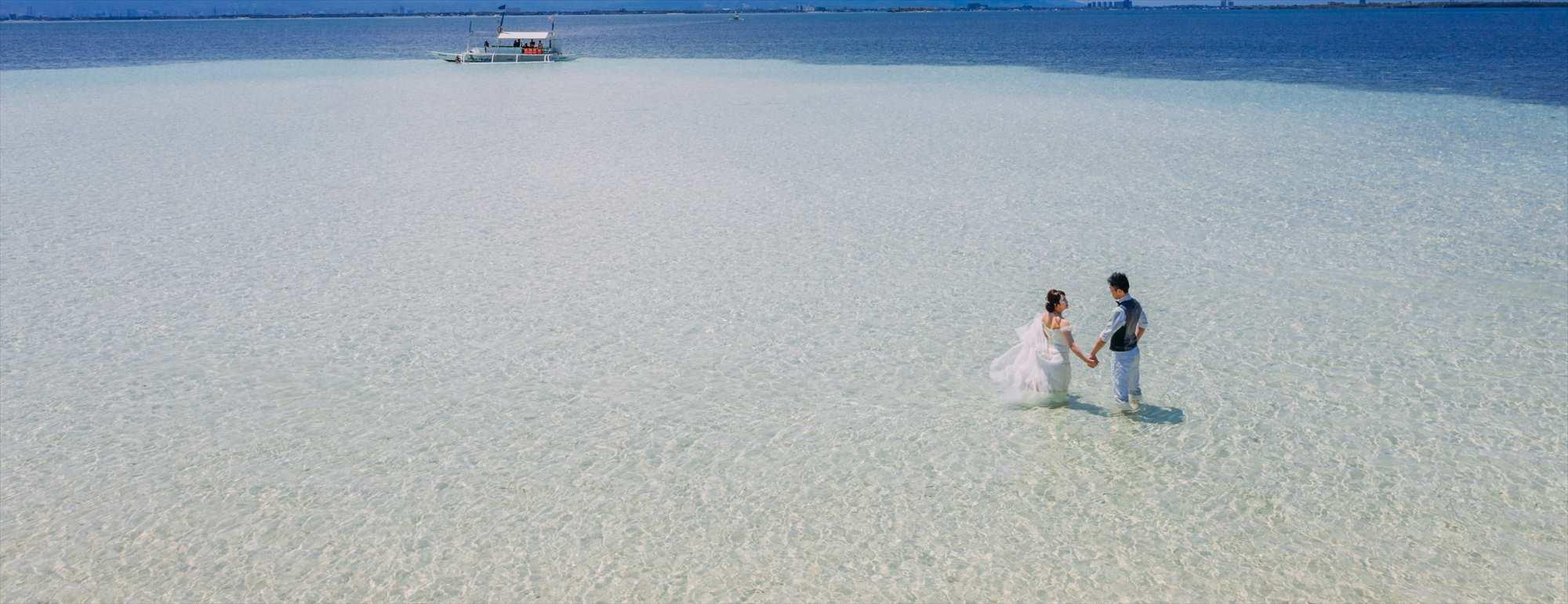 セブ島ビーチ・ドローン・フォトウェディングCebu Caohagan Island Photo Wedding~セブ・カオハガン島・フォトウェディング
