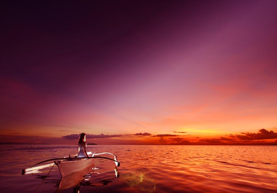 フィッシュサンクチュアリーの美しいサンセット<br /> (ボートでの撮影は別途追加代金がかかる場合があります。)
