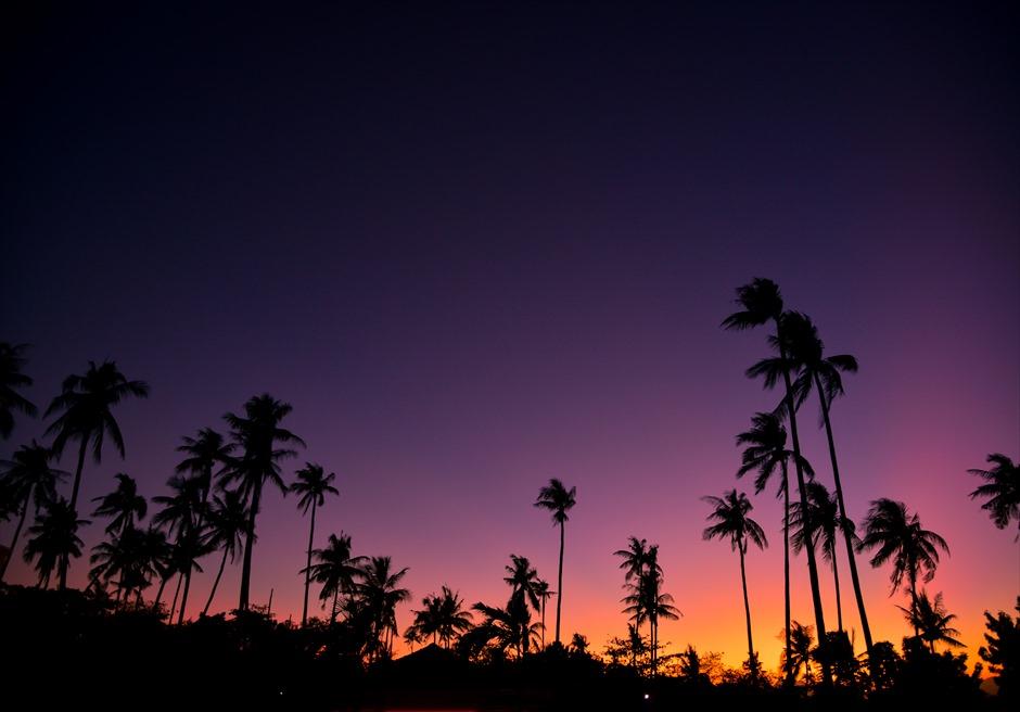オランゴ島の美しいサンセット