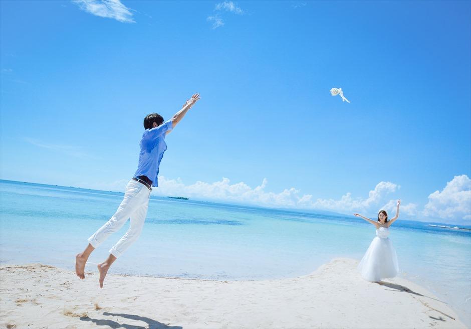 カオハガン島 ホワイトサンズビーチ<br /> フォトウェディング撮影