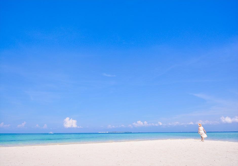 カオハガン島のプウダーホワイトサンド・ビーチ