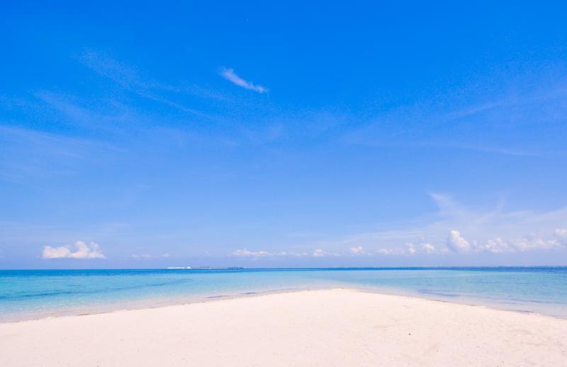 カオハガン島のパウダーサンドビーチ