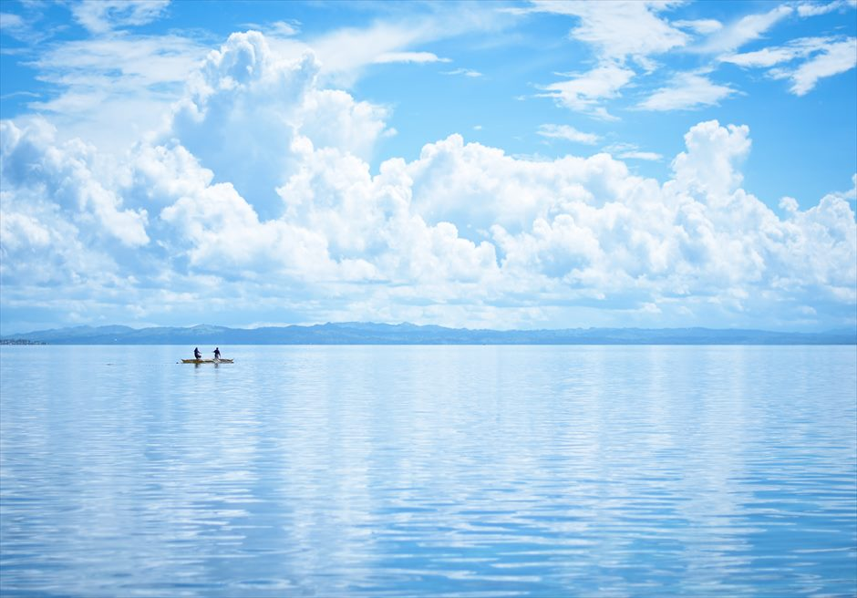 カオハガン島<br /> 透明度の非常に高い海