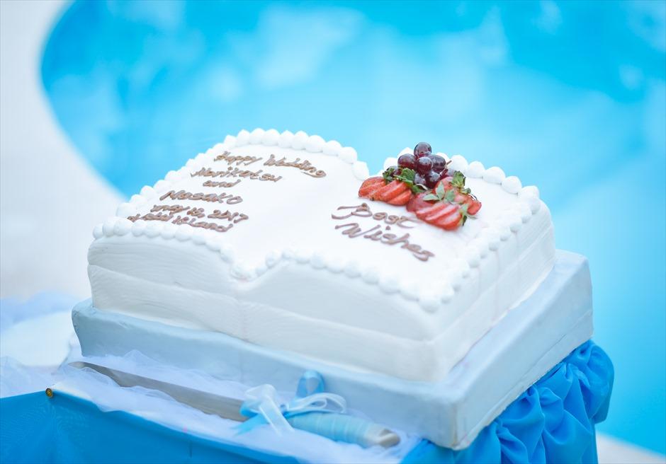 セブ島ウェエディング|オプションのウェディングケーキ
