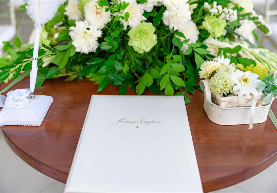 シルカ1900<br /> ブレス・セブ オリジナル クラシカル・ビューデッキウェディング<br /> 祭壇&結婚証明書