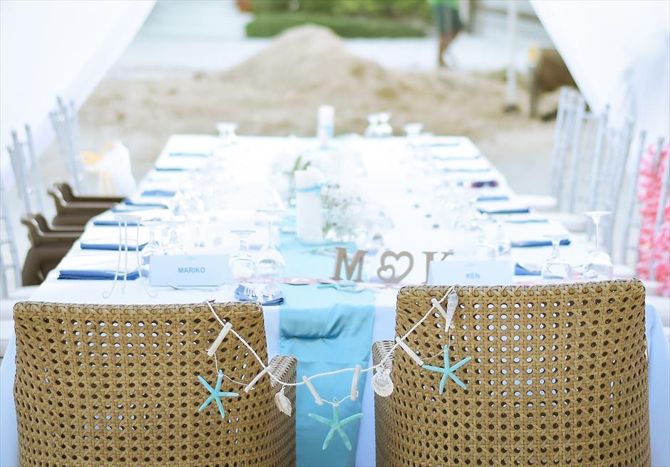 ブルーウォーター・マリバゴ セブ ウェディングパーティー 装飾例