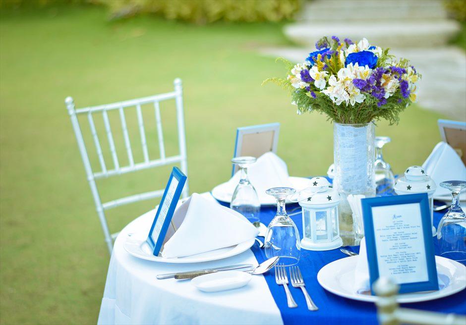 シャトー・バイ・ザ・シー マクタン ウェディング パーティー会場 テーブル装飾