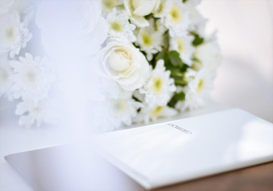 パシフィック・セブ ビーチウェディング ビーチリゾート挙式 結婚証明書