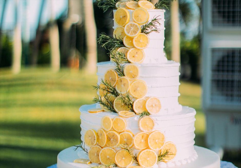 シャングリラ・マクタン・セブ ヘリパッドガーデン ウェディング・パーティー オーダーメイド ウェディング・ケーキ