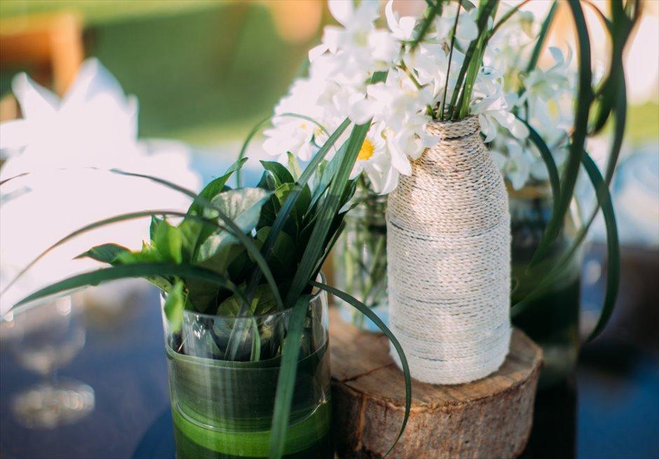 シャングリラ・マクタン・セブ ヘリパッドガーデン ウェディング・パーティー装花 デコレーション