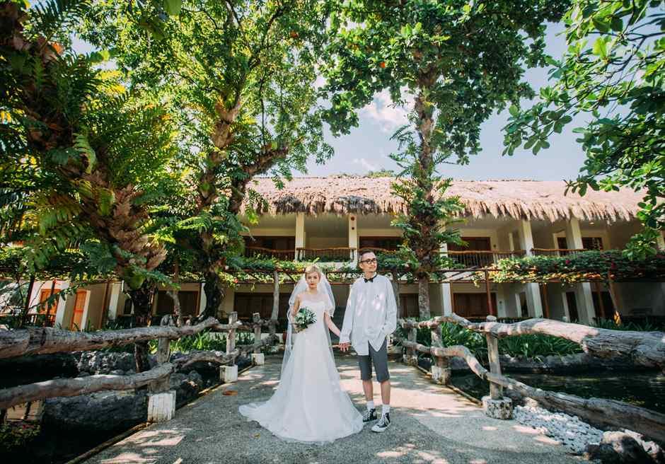ブルー・ウォーター・マリバゴ・セブウェディング セブフォトウェディング セブ島挙式撮影 ブルーウォーターフォト ガーデン