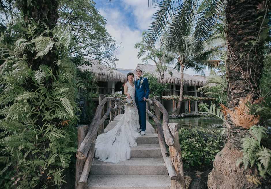 ブルー・ウォーター・マリバゴ・セブウェディング セブフォトウェディング セブ島挙式撮影 ブルーウォーターフォト ガーデンブリッジ