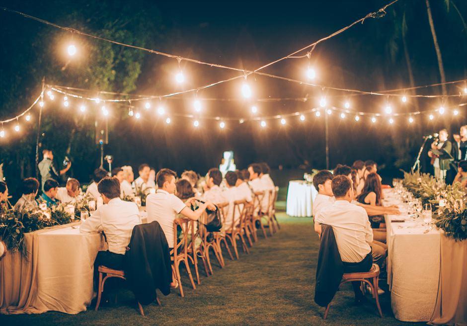 シャングリラ・セブ・マクタン ウェディングパーティー 挙式パーティー会場 ガーデンパーティー