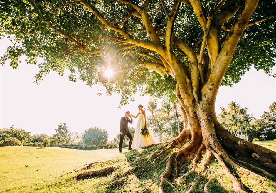 シャングリラ・セブ・マクタン セブ・フォトウェディング シャングリラ・フォト セブ挙式前撮影 ガーデン撮影
