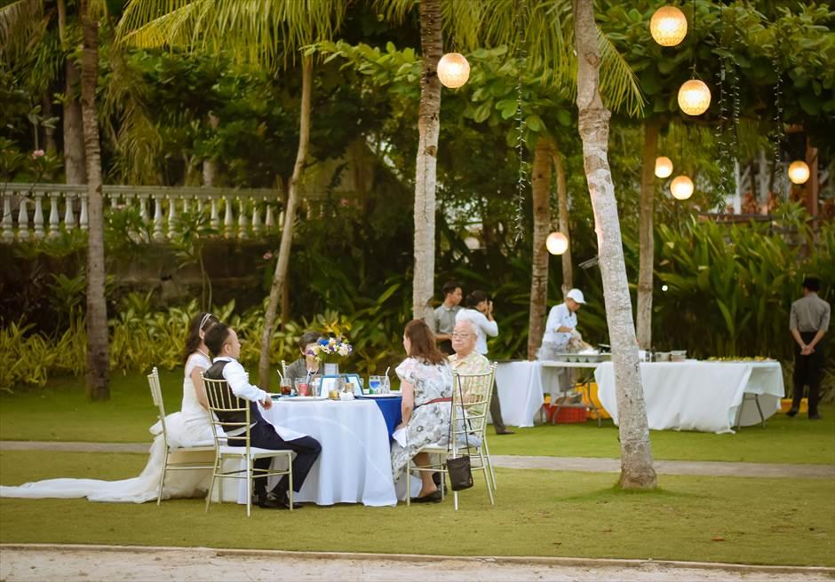 シャトー・バイ・ザ・シー 挙式パーティー会場 セブ・ガーデンパーティー セブ島ウェディングパーティー 屋外セブパーティー