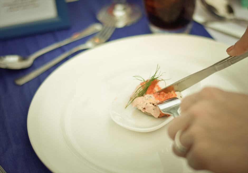 シャトー・バイ・ザ・シー 挙式パーティー会場 セブ・ガーデンパーティー セブ島ウェディングパーティー 野外セブパーティー パーティー・コース料理