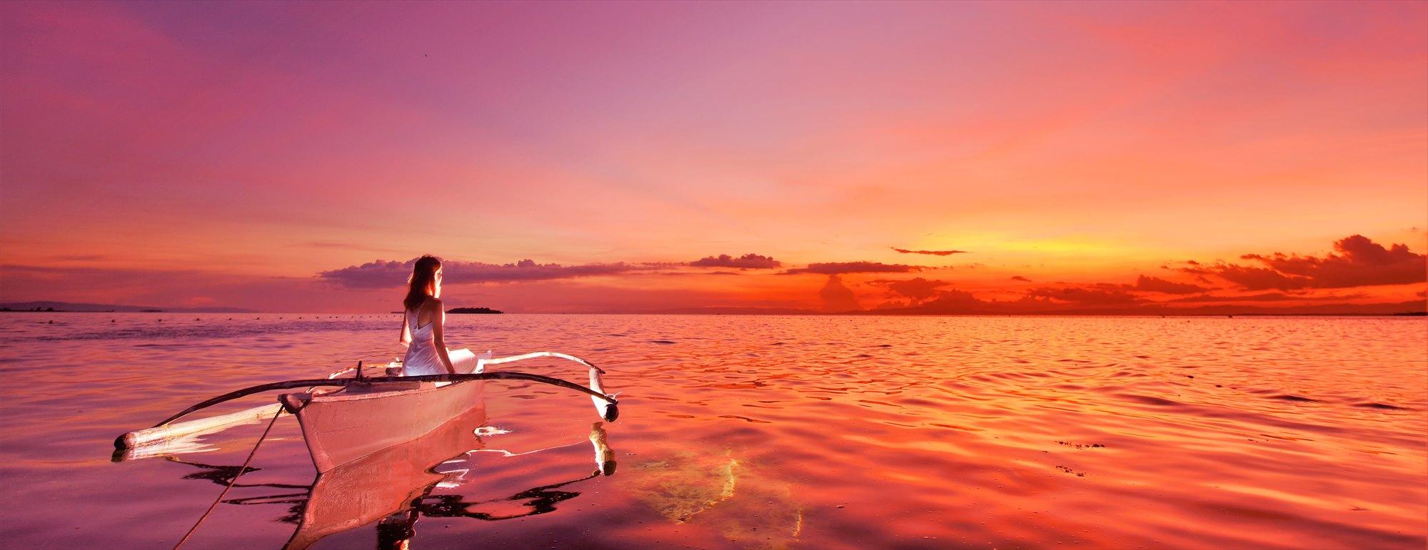 セブ島サンセット・フォトウェディングCebu Olango Island Sunset Photo Wedding~セブ・オランゴ島・ボート・ライド