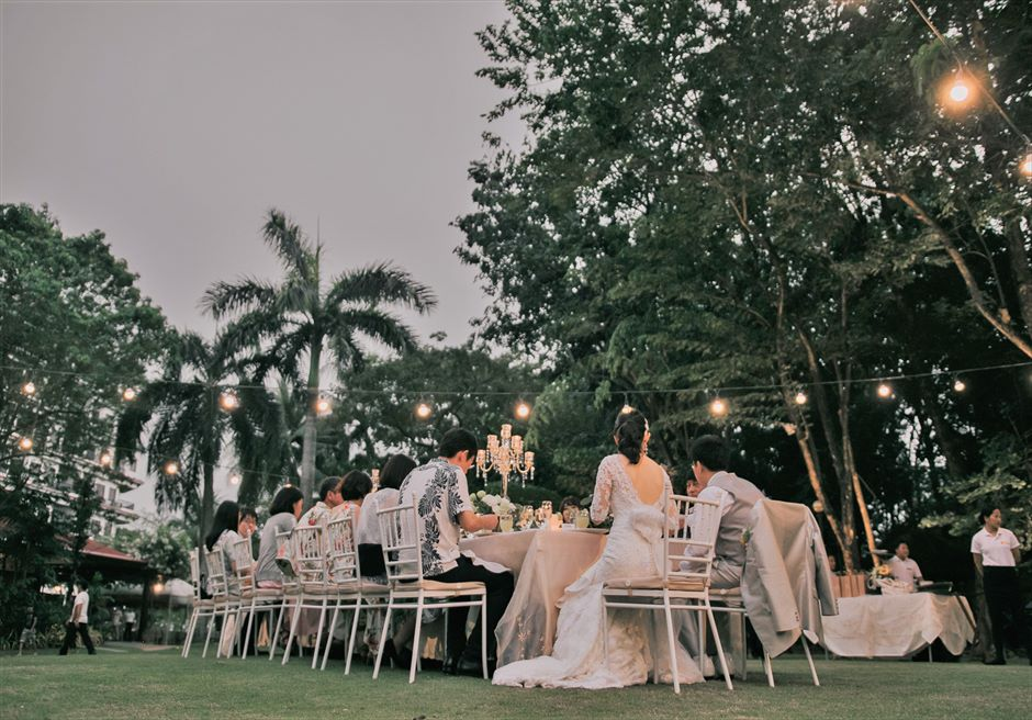 セブ・ホワイトサンズ・リゾート&スパヒストリック・ガーデン・パーティーアップグレード装飾パーティーシーン