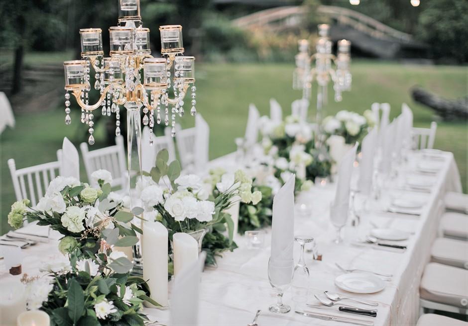 セブ・ホワイトサンズ・リゾート&スパヒストリック・ガーデン・パーティーテーブルアップグレード装飾シャンデリア¥20,000