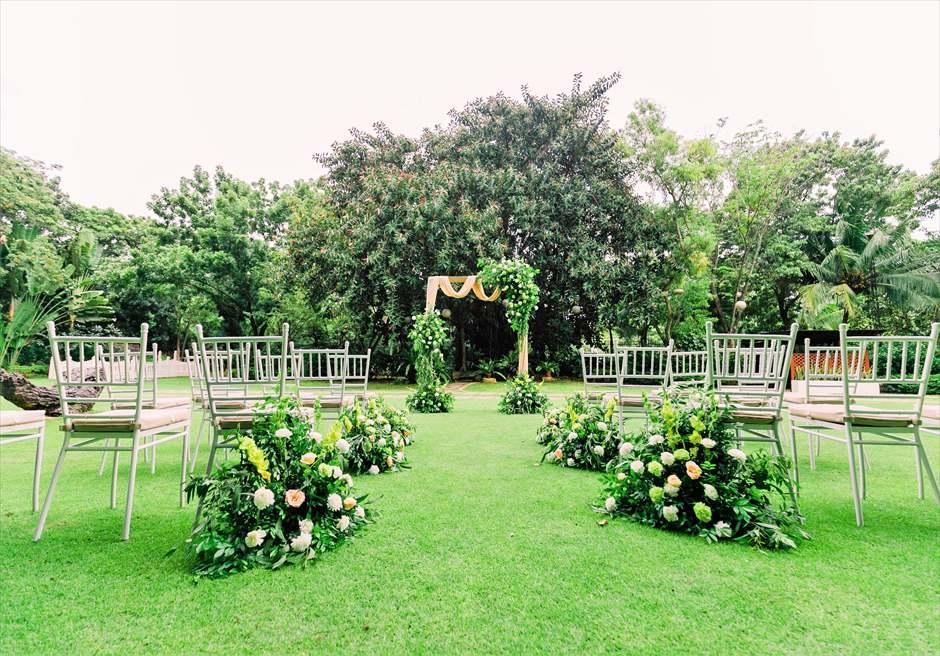 セブ・ホワイトサンズ・リゾート&スパヒストリック・ガーデン・ウェディング挙式会場全景