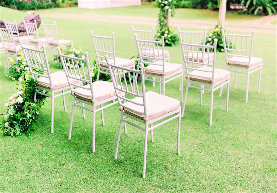 セブ・ホワイトサンズ・リゾート&スパヒストリック・ガーデン・ウェディングホワイト・ティファニーチェア