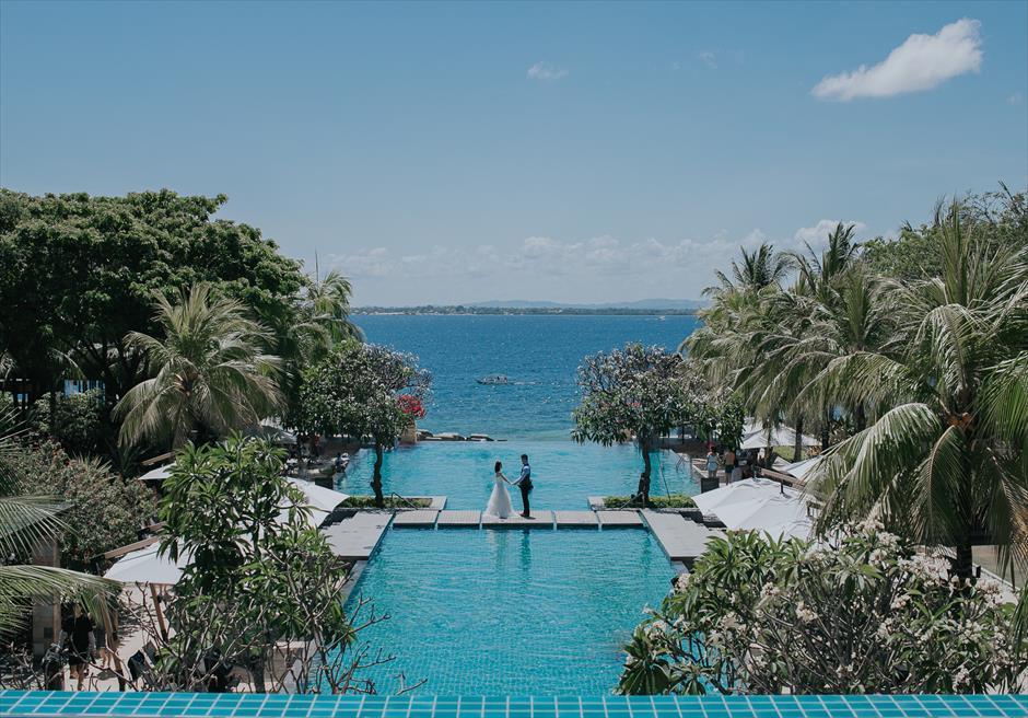 セブ島インフィニティ・プール/ウェディング・フォト/ Crimson Resort&Spa Mactan Garden Wedding/ ~クリムゾン・リゾート&スパ・ガーデン挙式