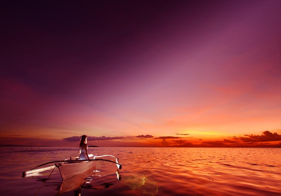 セブ島サンセット・フォトウェディング/ Cebu Olango Island Sunset Photo Wedding/ ~セブ・オランゴ島・ボート・ライド