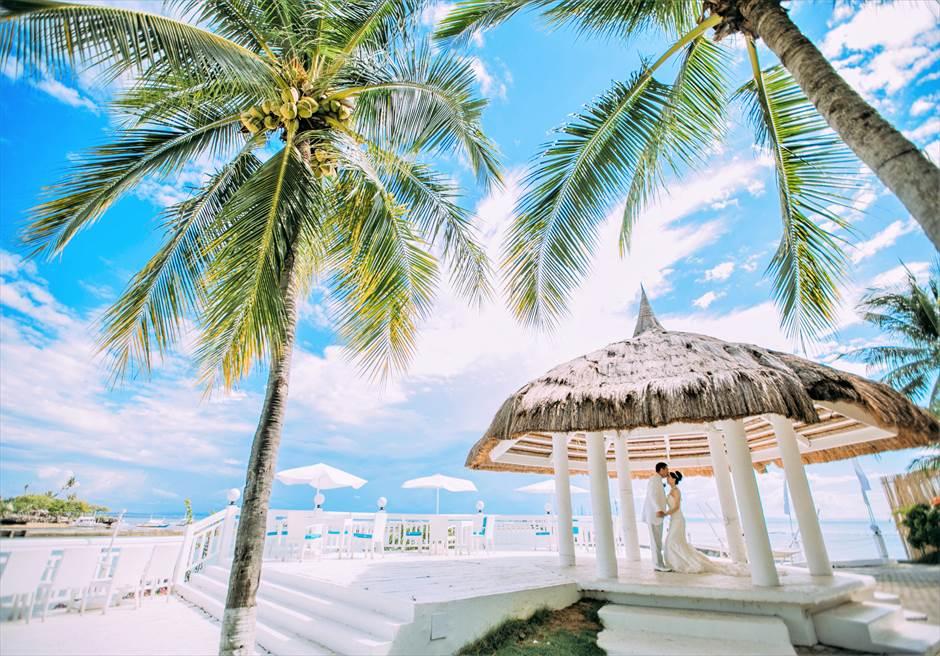 セブ島ビーチ・ガゼボ・ウェディング・フォト/ Pacific Cebu Resort Beach Gazebo Wedding Photo/ ~パシフィック・セブ・リゾート・ビーチ挙式