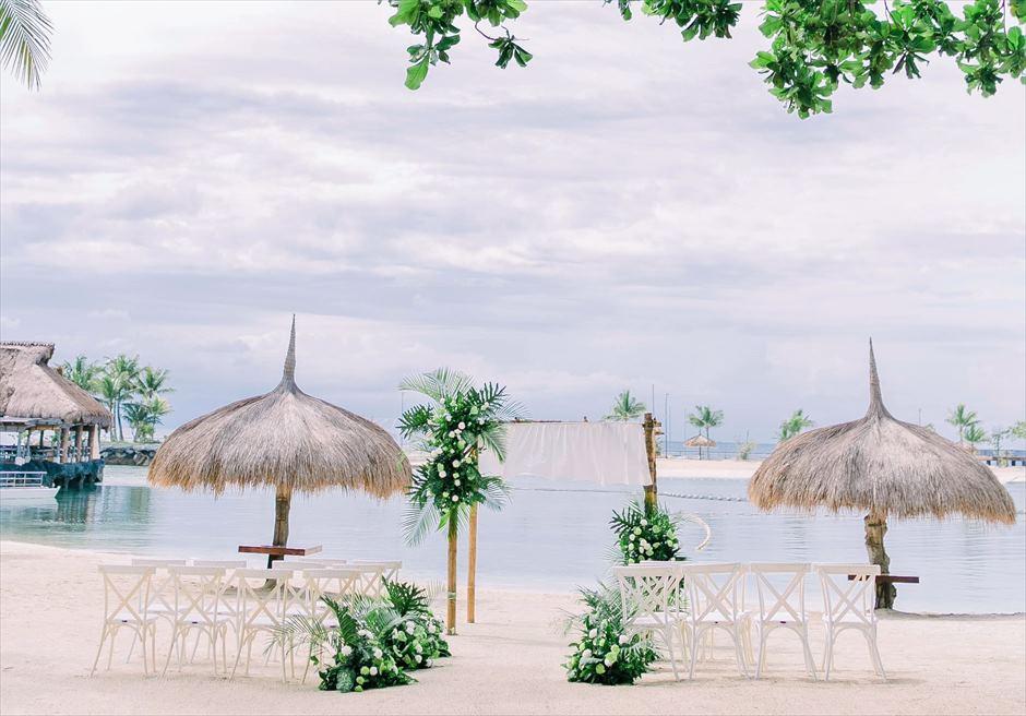 ブルーウォーター・マリバゴビーチ挙式ボタニカル&トロピカル・ウェディング挙式会場全景