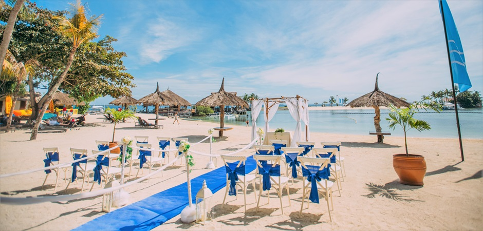 Blue Sky Beach Wedding