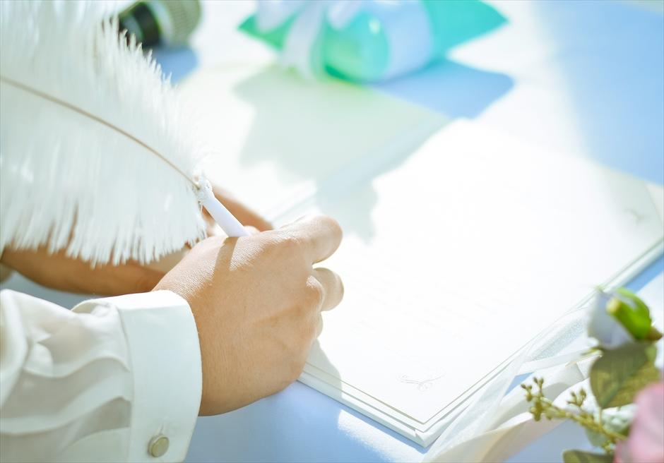 クリムゾン・リゾート&スパ・マクタンアズール・ガーデンクラシック&ラスティック挙式プラン結婚証明書