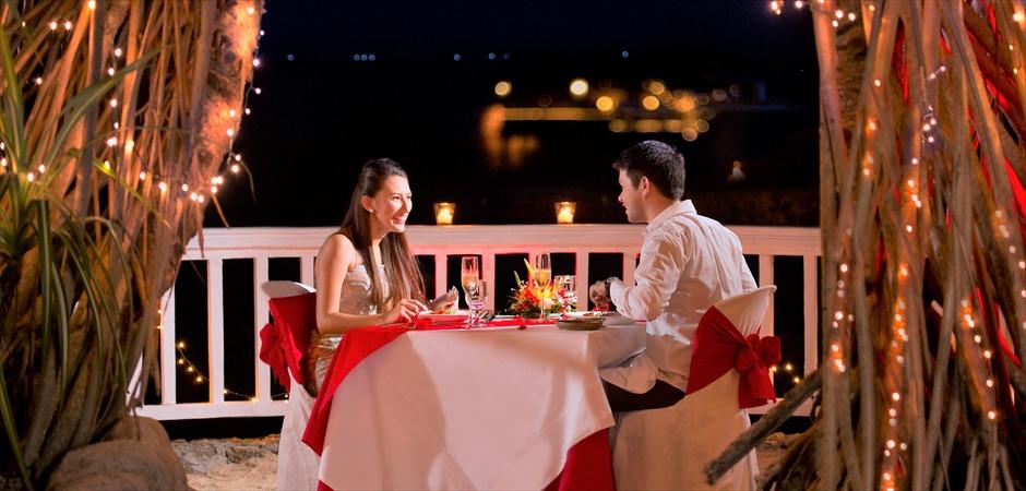 Lagoon Wedding at Peninsula GazeboRomantic Dinner at Fiji Restaurant