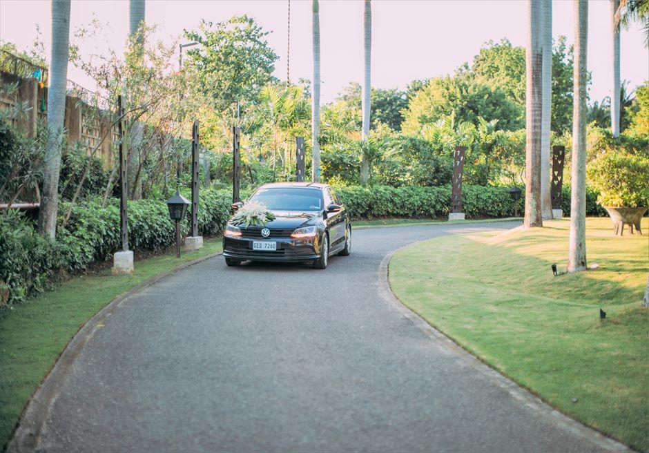シャングリラ・マクタン・リゾートオーシャン・パビリオンクラシック・ウェディングリゾート内送迎車