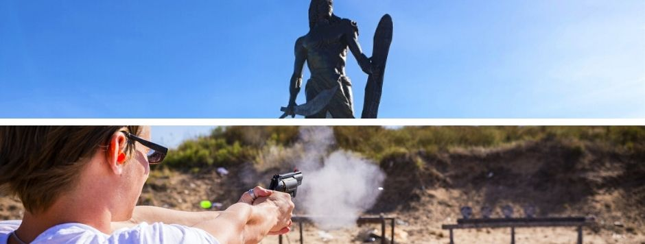 セブ島旅行 マクタン島観光ツアー マクタン・シュライン 射撃