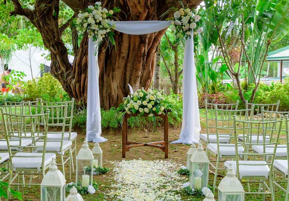 シルカ1900ナチュラル・ウェディングツリー・ガーデン祭壇周り装飾