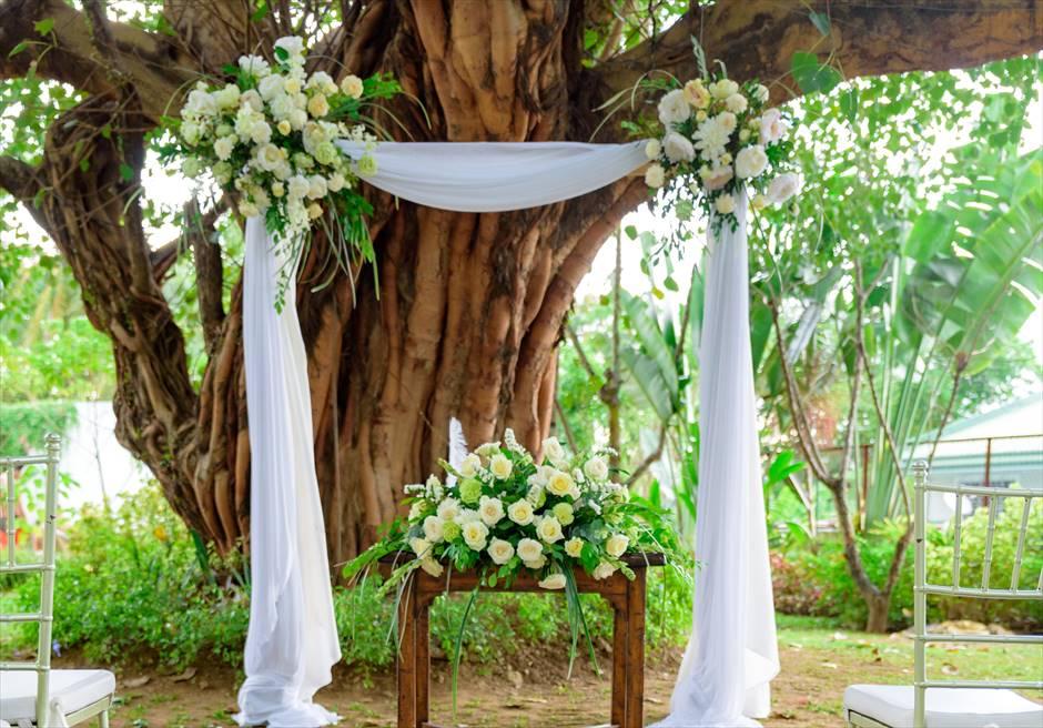 シルカ1900ナチュラル・ウェディングツリー・ガーデンウェディングアーチ生花装飾