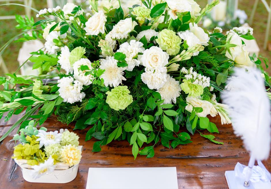 シルカ1900ナチュラル・ウェディングツリー・ガーデン祭壇生花装飾・リングピロー・羽ペン