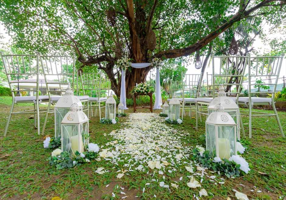シルカ1900ナチュラル・ウェディングツリー・ガーデン生花バージンロードアイルサイド装飾
