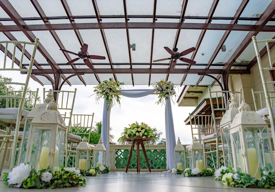 シルカ1900コロニアル・ウェディングカーサ・ドス・テラスアイルサイド生花装飾
