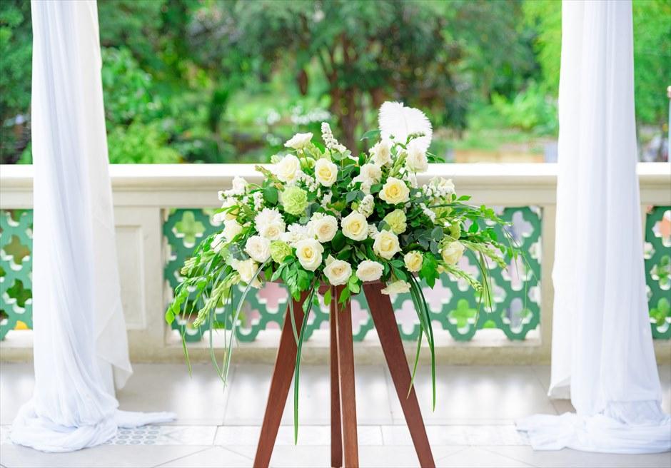 シルカ1900コロニアル・ウェディングカーサ・ドス・テラス祭壇生花装飾