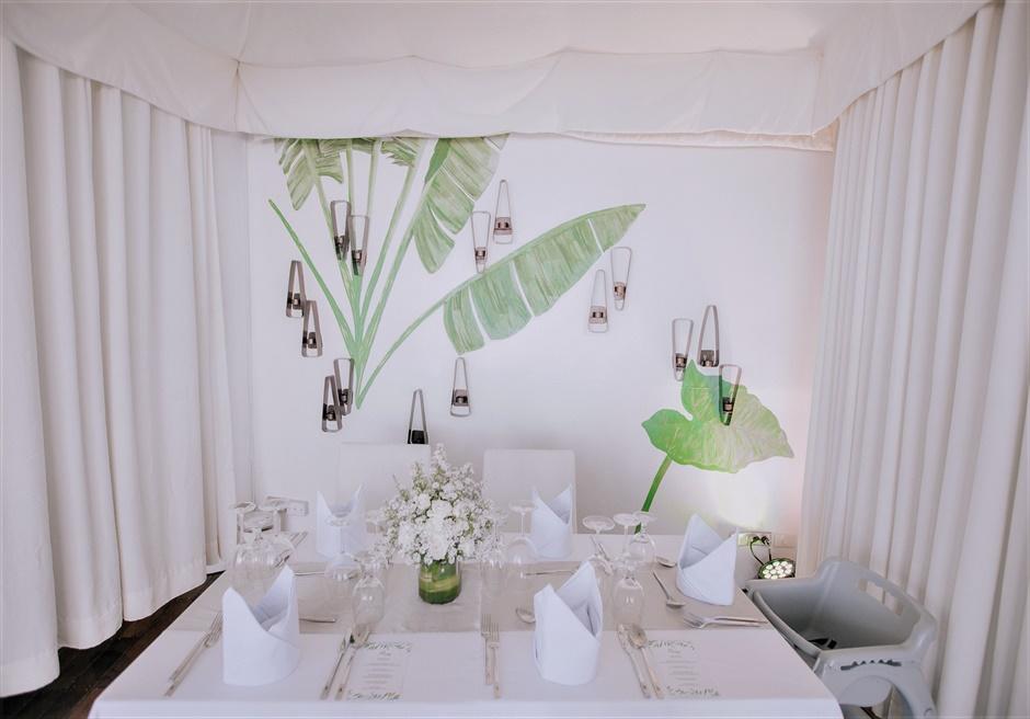 モーベンピック・マクタン・アイランドビーチフロント・ガーデンに隣接するカバナ・レセプションパーティー※別途代金がかかります