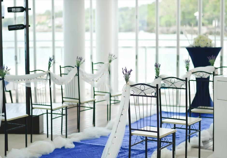 イビザ・ビーチ・クラブ挙式会場装飾アンティークアイルサイド装飾