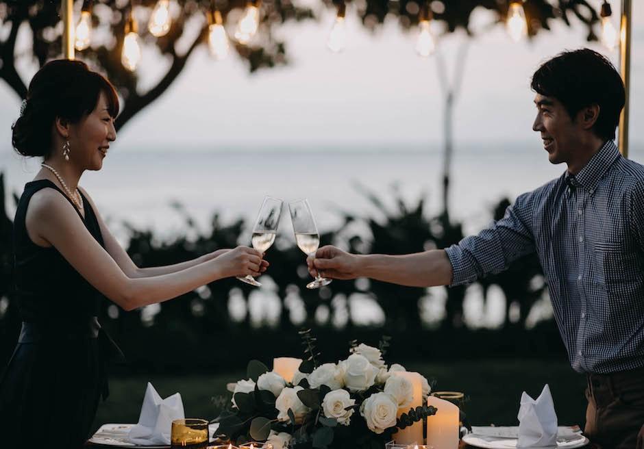 セブ島挙式 クリムゾン・リゾート & スパ・マクタン 乾杯