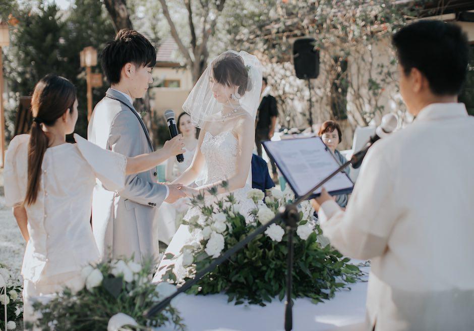 セブ・結婚式 クリムゾン・リゾート&スパ・マクタン 誓いの言葉