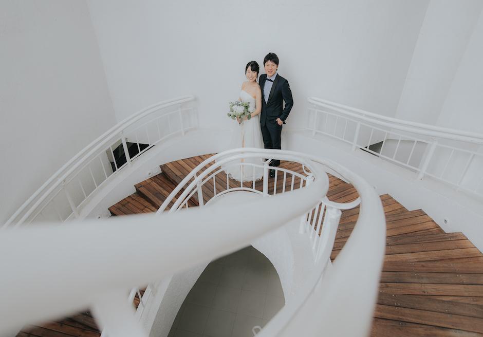 セブ島での結婚式のカップル